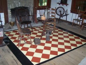 floorcloth in Kemper parlor2